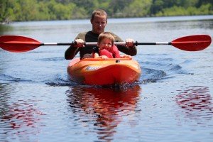 Stephanie Spradlin | PeeDeePost.com Ryan Ferguson, 3, enjoys the back-and-forth rocking of the kayak.
