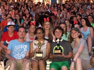 Submitted photo Rockingham Middle School Choir members pose with their trophies at Festival Disney.