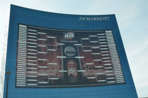Photo by Jerry Andrews The J.W. Marriott is said to feature the largest billboard in the world.