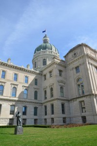 Photo by Jerry Andrews The State Capitol Building in downtown Indianapolis.