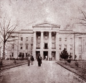 The State Capitol, circa 1861. Image from the State Archives.