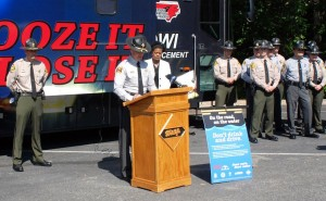 "An NC WRC photo The N.C. Wildlife Resources Commission, State Highway Patrol and Mothers Against Drunk Driving (MADD) will kick-off the annual ""On the Road, On the Water, Don't Drink and Drive"" campaign with a news conference on May 14 at Blythe Landing Park on Lake Norman."