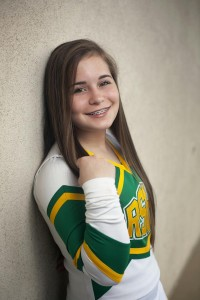 Submitted photo Bayleigh Varner, a cheerleader at Richmond Senior High School, hopes to soon perform on a much larger stage.