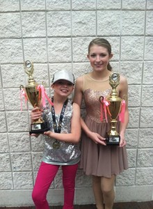 Submitted photo Abbie Player, left, and Alyse Player, each earned a gold award in their respective divisions in a Mother's Day weekend competition in Myrtle Beach, S.C.