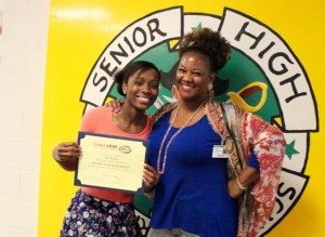 Kevin Spradlin | PeeDeePost.com Nile Fisher and her aunt, Nikki Wells - who is also a guidance counselor at Richmond Senior High School.