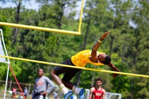 Kevin Spradlin | PeeDeePost.com Tyler York placed fourth in the boys high jump to advance to the state meet.