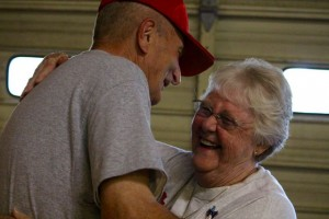 Kevin Spradlin | PeeDeePost.com Friendship and fellowship is always a key part of the Memorial Day Cookout in Norman.
