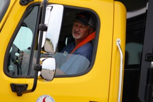 Kevin Spradlin | PeeDeePost.com Allen Hancock, a mechanic in the Richmond County garage with the N.C. Department of Transportation, took first place in the single ample dump truck competition.