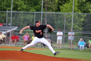 Kevin Spradlin | PeeDeePost.com Rockets starting pitcher tossed six innings in the conference championship and allowed two runs on five hits while walking seven.