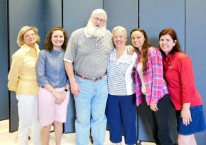 Submitted photo Bonnie Parker, Jennifer Olsen, Santa, Louise Burton, Tiffany Evans, Teresa Copper.