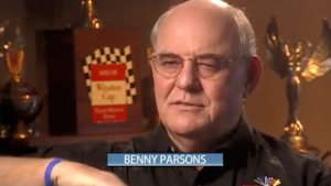 Benny Parsons recalls a near-disastrous crash in 1975 that almost cost him the Winston Cup championship.