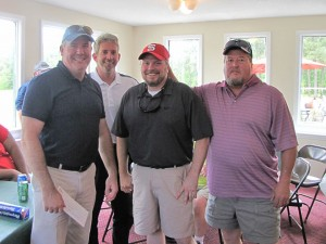Submitted photo Johnny Rhodes, Matt Suskie, Lawrence Lamonds and Bill Rutting placed second.