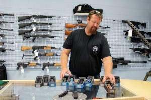 Kevin Spradlin | PeeDeePost.com Scott Taunton, a Navy veteran, will open Scott's Tactical Supplies at 10 a.m. Friday at 214 S. Long Drive in Rockingham.
