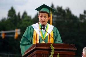 Kevin Spradlin | PeeDeePost.com Salutatorian John Pittman encouraged his fellow graduates to find their roles in life.