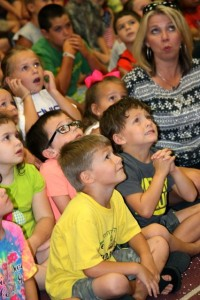 Stephanie Spradlin | PeeDeePost.com The audience squealed with delight and surprise for Rock Star Magic last August at Thomas Leath Memorial Library.