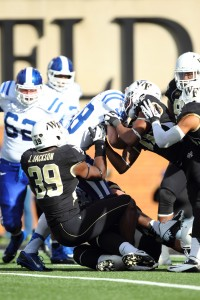 Photo courtesy Wake Forest University Justin Jackson shown here playing against Duke.