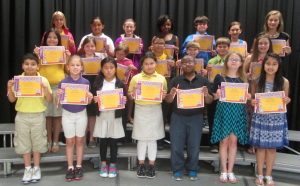 Submitted photo Students in grades three through five at Mineral Springs Elementary School in Ellerbe who made the A Honor Roll for the fourth nine-week grading period are: front row from left Giovanni Gomez, Alissa Whitlock, Wendy Lopez Cruz, Zonia Contreras Gonzalez, Diezel Green, Hailey Maness and Shelia Martinez. Second row from left, Emily Juarez, Caroline Hunsucker, Bella Ross, Bryan Morales, Ayden Mabe, Dexter Mabe and Hayley McCormick. Third row from left, Haylee Johnson, Yuliana Gonzalez, Ashlyn Bouldin, Maya Ledbetter, Battle Grooms, Caylie Holden and Jamie Sears.