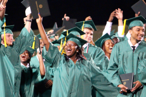 Kevin Spradlin | PeeDeePost.com Spectators at the 42nd annual Richmond Senior High School commencement had plenty of reasons to celebrate Friday night, but the evening began with a smooth traffic flow into the school parking lot.