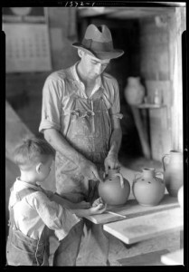 Image from  the Library of Congress. Pottery: Ben Owen, circa 1904-1954.