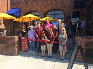 A Richmond County Chamber of Commerce photo City officials were part of the gathering when Pattan's Downtown Grille celebrated its grand opening with a ribbon-cutting ceremony. But the project was spearheaded by the city, and officials on Tuesday lamented the lack of private investment.