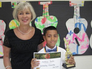 Submitted photo Principal's Award - Anthony Jacobs with Principal Jamie Greene.