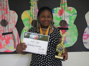 Submitted photo Principal's Award - Faith Coker