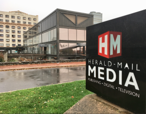 Photo by Kevin Spradlin It is difficult to miss the Herald-Mail Media building, situated on the corner of West Antietam Street and Summit Avenue in downtown Hagerstown.