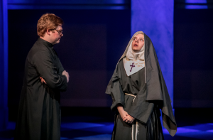 Photo by ShelliCraigPhotography.com Bronwen Bradshaw's portrayal of Mother Superior was spot on - in humor, in seriousness and in song. Zechariah Luck, was Monsignor O'Hara, was a near-perfect counter to the range of emotions Bradshaw offered the audience.