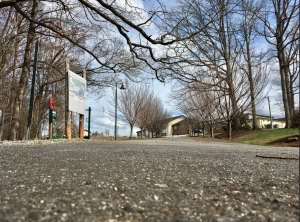 Photo by Kevin Spradlin | PiedmontPostNC.com This is the view from the bottom of the 316-foot hill 5K runners and walkers must climb before reaching flat, and the finish line, of the 3rd annual Stop, Drop & Roll 5K on April 7 in Summerfield.