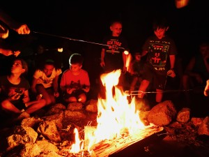 Kevin Spradlin | PiedmontPostNC.com No trip to camp is complete without a campfire and marshmallows. Right?