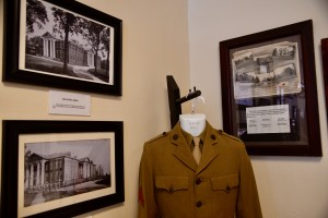 Kevin Spradlin | PiedmontPostNC.com One of the first uniforms for Oak Ridge Military Institute after it became affiliated with the U.S. military in 1917 is on display inside the school's museum.