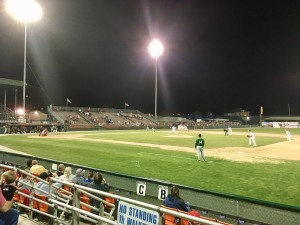 Kevin Spradlin | PiedmontPostNC.com The Greensboro Grasshoppers earned a 10-9 win in 10 innings on Thursday night against the Hagerstown (Md.) Suns at Municipal Stadium.
